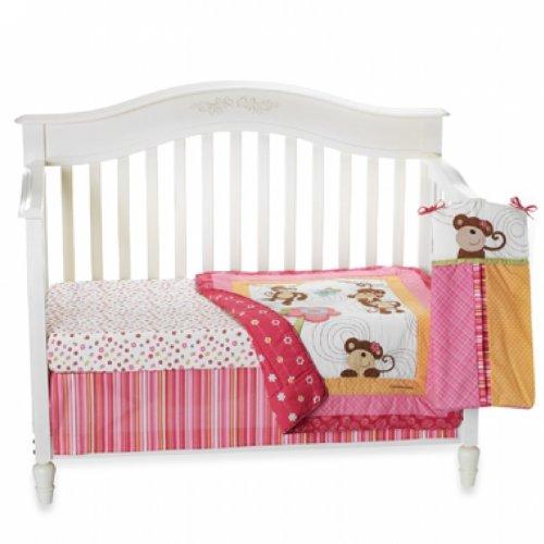 CoCo and Company Melanie The Monkey 4 Piece Crib Bedding Set, Baby & Kids Zone