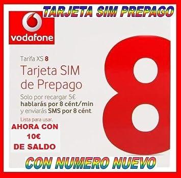 TARJETA SIM PREPAGO VODAFONE XS8 XS 8: Amazon.es: Electrónica
