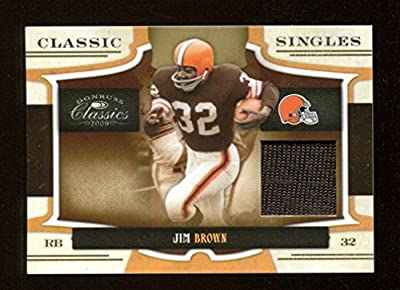 Jim Brown 2009 Donruss Classics Game Used Jersey Card 20/250 Cleveland 39587