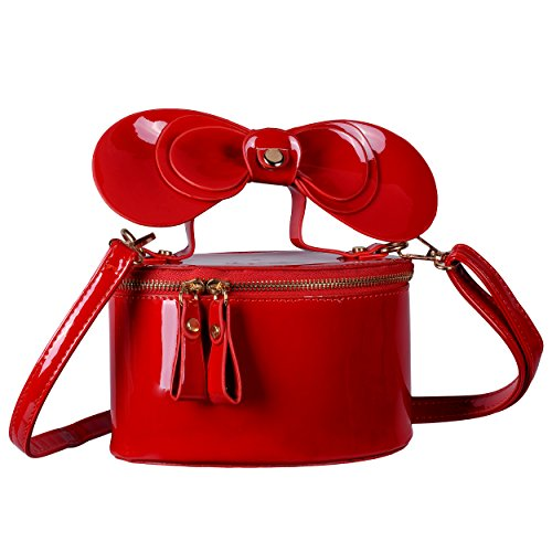 Shoulder Shape Leather Satchel Patent Shining Red QZUnique Crossbody Carton Women's Handbag Bag EwXqxYH
