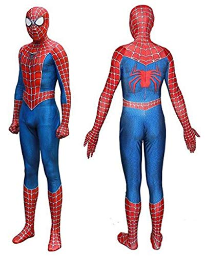 Unisex Lycra Spandex Zentai Halloween Cosplay Costumes for Audlt/Kids:Homecoming Red]()
