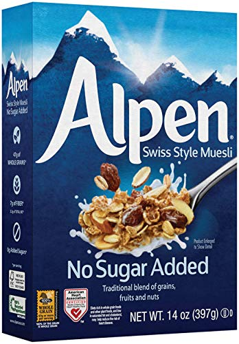 - Alpen Muesli Cereal, No Sugar Added, 14 Ounce (Pack of 6)
