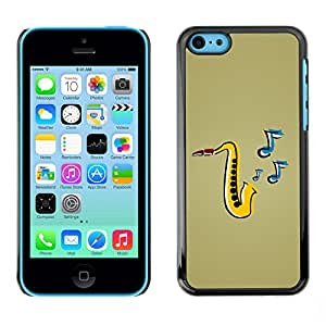 Be-Star Unique Pattern Hard Protective Back Case Cover Shell Skin For Apple iPhone 5C ( Saxophone Music )