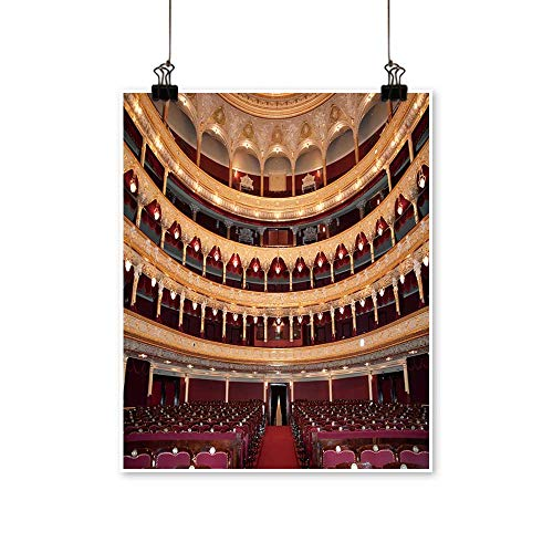 (Wall Decor Auditorium an Interior of Opera Theatre Odessa,Ukraine Wall Art for Bedroom Home,28