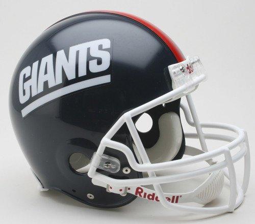 1999 Football Helmet - New York Giants 1981-1999 Throwback Riddell Full Size Authentic Proline Football Helmet