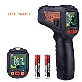 Infrared Thermometer, Tacklife -58℉~1022℉(-50℃~550℃) Non-Contact Laser Temperature Gun with Color LCD Screen, Adjustable Emissivity, Alarm Setting, Max/Hold Display - IT-T09