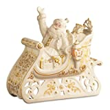 Lenox Florentine and Pearl Lighted Santa's Glorious Ride