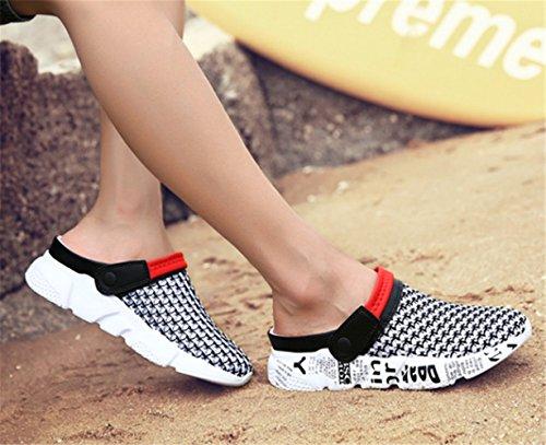 Mules Clog Femmes Sandale Sabots Chaussures à Rouge Hommes Enfiler de Été Plage w5gAqx4OC