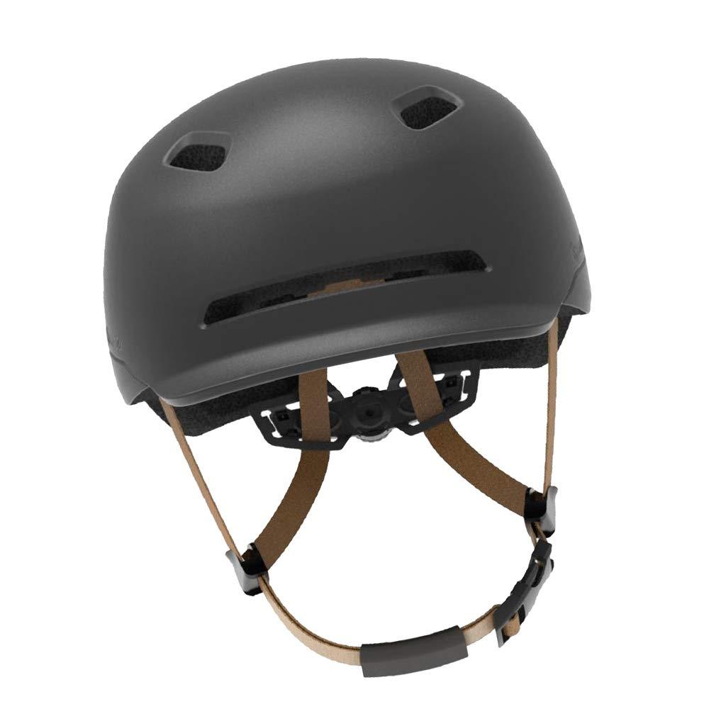 Prettyia スマート サイクリング ヘルメット LEDライト付き 高視認性 夜間の安全 メンズ レディース バイク オートバイ CE認定 B07L5NRY47  ブラック 57-61cm