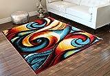Cheap Modern Contemporary Area Rug, Multi Colors (8 Feet X 10 Feet)