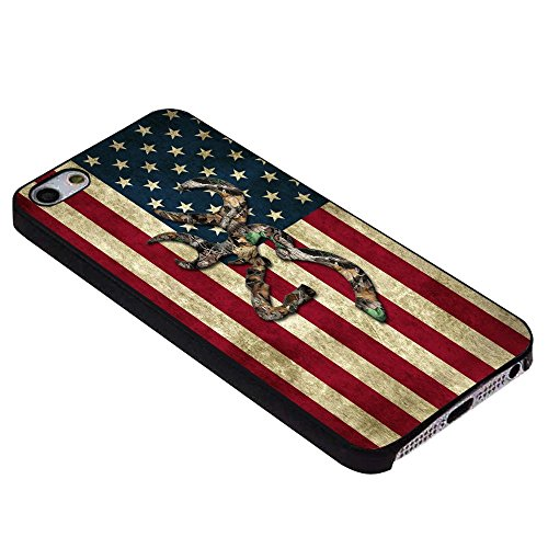 Browning Deer Camo American Flag for Iphone Case (iPhone 5/5s black)