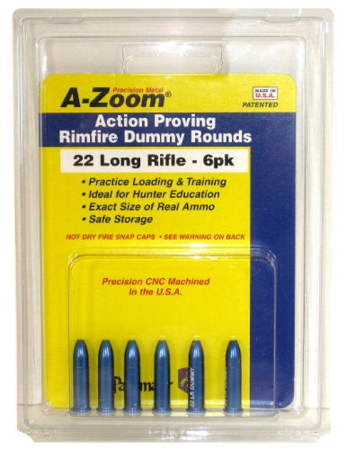 A-Zoom 6-Pack Precision Dummy Rounds fits 22 LR Action (22 Rimfire Ammo)