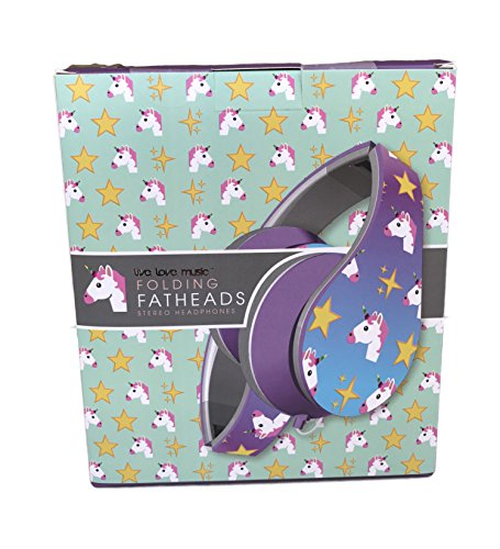 Unicorn Folding Fatheads Headphones (Folding Elmo)