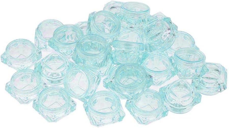 30 Pezzi Mini Contenitore Cosmetico Bottiglia Di Plastica per Il Trucco Balsamo per Labbra Per Conservazione - Chiaro verde