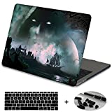 Mektron Plastic Print Hard Case with Dust Plug & Silicone Keyboard Cover For MacBook Air 13 Inch (Model A1369/A1466),Fantasy Game Scene