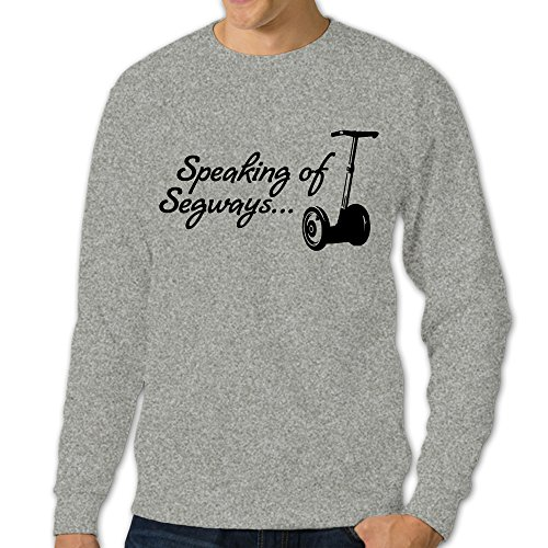 ReBorn Men's Pullover Speaking Of Segway Long Sleeve T-shirt Crew Neck Sweatshirt Ash XL (Segway Vacuum Cleaner compare prices)