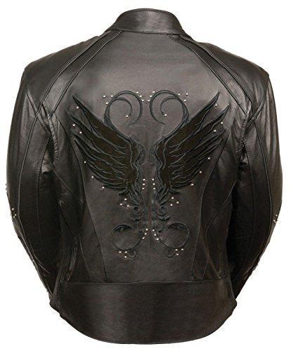 Ladies Leather Bike Jacket - 6