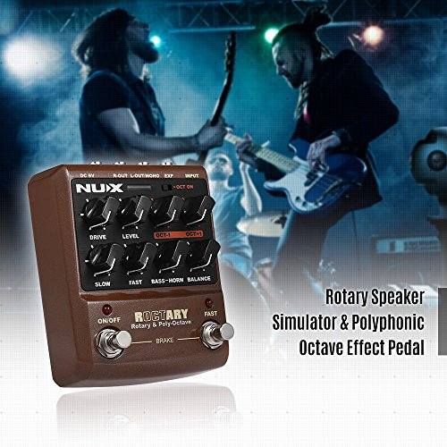 Kalaok ROCTARY FORCE 2-in-1 Rotary Speaker Simulator & Polyphonic Octave Guitar Effect Pedal True Bypass