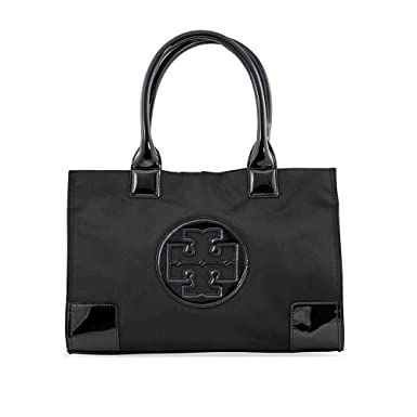 556e9f53ab6a Amazon.com  Tory Burch Nylon Mini Ella Tote - Black  Tory Burch  Shoes