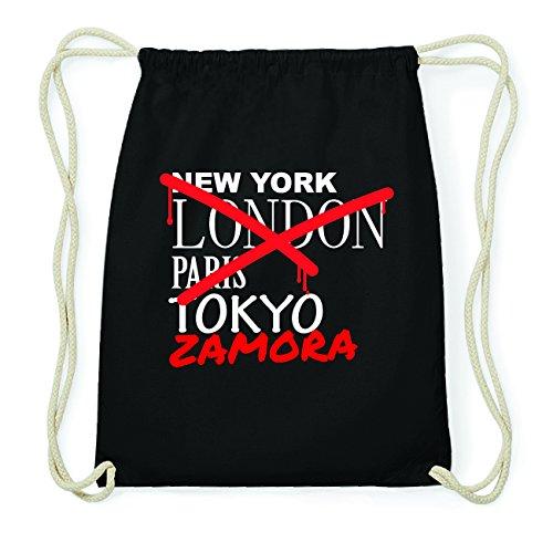 JOllify ZAMORA Hipster Turnbeutel Tasche Rucksack aus Baumwolle - Farbe: schwarz Design: Grafitti 0osAcq