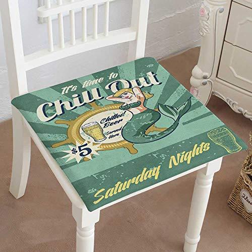 - Mikihome Chair Pads Classic Design Mermaid Tavern bar Sign Cotton Canvas Futon 26