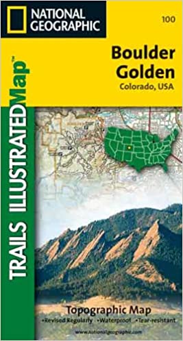 Trails Illustrated Boulder Golden Colorado Usa 0749717001008