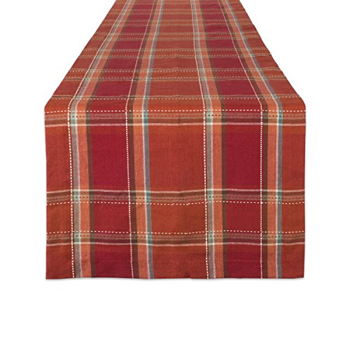 DII Cotton Table Runner Perfect for Fall, Thanksgiving, Catering Events, Dinner Parties, Special Occasions or Seasonal Décor, 14x72, Autumn Spice -