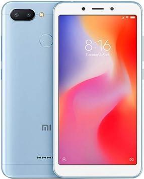 Xiaomi Redmi 6 64GB ROM 3GB RAM Dual Camera Dual SIM gsm Factory Unlocked Smartphone International Global 4G LTE Version (64GB, Azul): Amazon.es: Electrónica