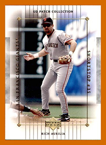 2003 Upper Deck Patch - 2003 Upper Deck UD Patch Collection #93 Rich Aurilia. SAN FRANCISCO GIANTS