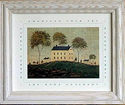 .com: framed farmhouse on hill warren kimble print picture ...