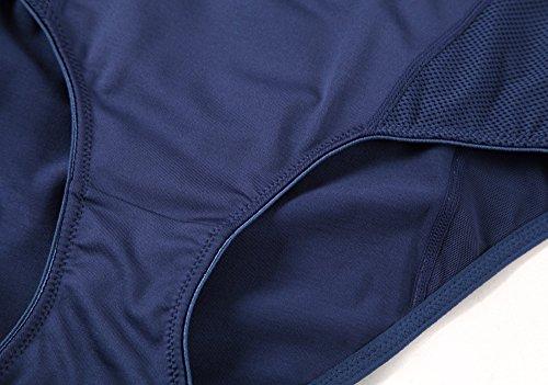 Yvette mujeres de mediana altura deportes bragas # 6038–antibacteriano/odor-inhibit/apoyo azul marino