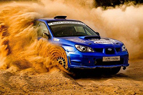 Subaru Impreza Wrx Rally Drifting Car Silk Poster