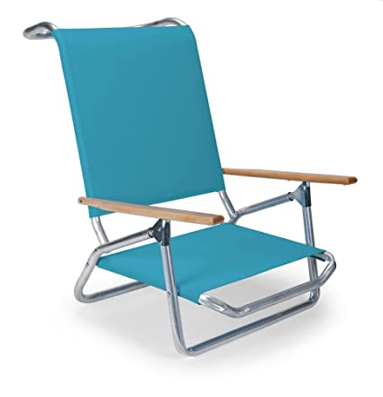 Telescope Casual Light And Easy Low Boy Folding Beach Arm Chair, Aqua