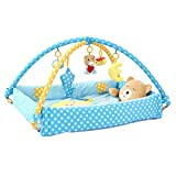 Dovewill Bear Musical Sensory Activity Mat With Sides, Music And Toys For Baby - Blue, 12 Months