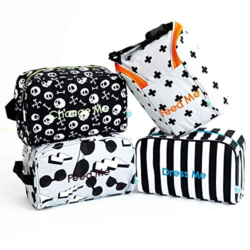 Detroit Rock City Easy Baby Travelers Starter Set of 4 for Diapers, Clothes, Food & Bottles ()