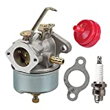 632230 632272 Carburetor with Spark Plug Fuel Filter for Tecumseh 5 HP 6 HP 631828 631067 631067A H30 H50 H60 HH60 HH70 Engines 4 Cycle Engine Troy Bilt Tiller Toro Snowblower Sears Tillers 47279 Carb