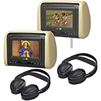 Audiovox Dual Dvd Mobile Video Headrest System