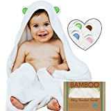 """Ayayu Luxury Bamboo Baby Hooded Towel & Washcloth 