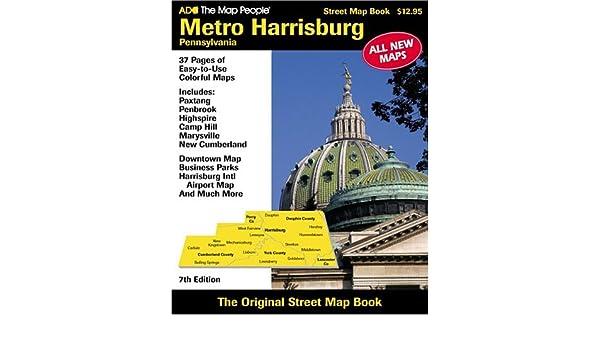 Harrisburg Pa Metro Atlas The Map People Adc 9780875306216