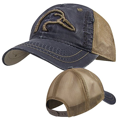 Ducks Unlimited Hat - Ducks Unlimited Duckhead Cap- Navy/Brown