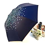 hampton bay sun shade - LetGoShop Anti-UV Automatic Open close Travel Umbrella Rain Umbrella Sunny Umbrella Windproof for Women (Navy blue)