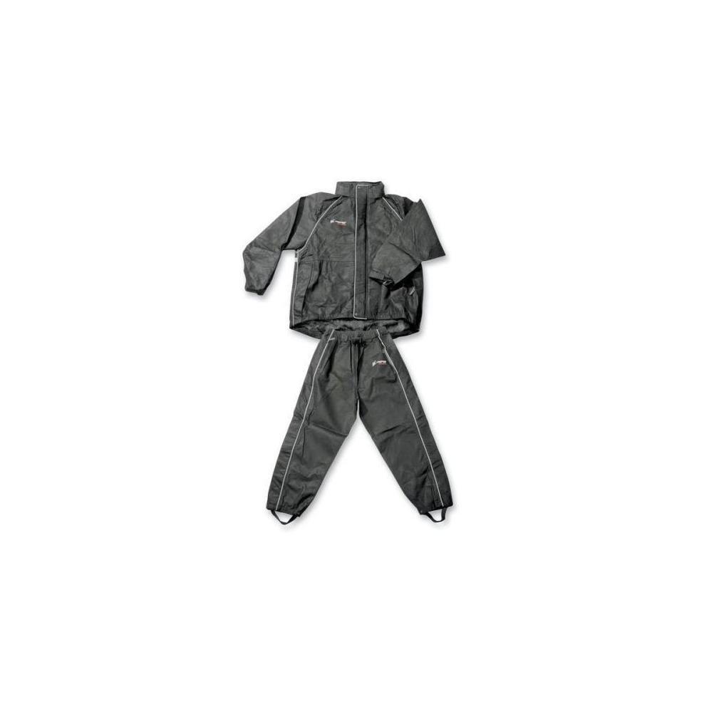 Frogg Toggs Men's Cruisin Toggs Rainsuit (Black, Large) (TT10399-01LG)