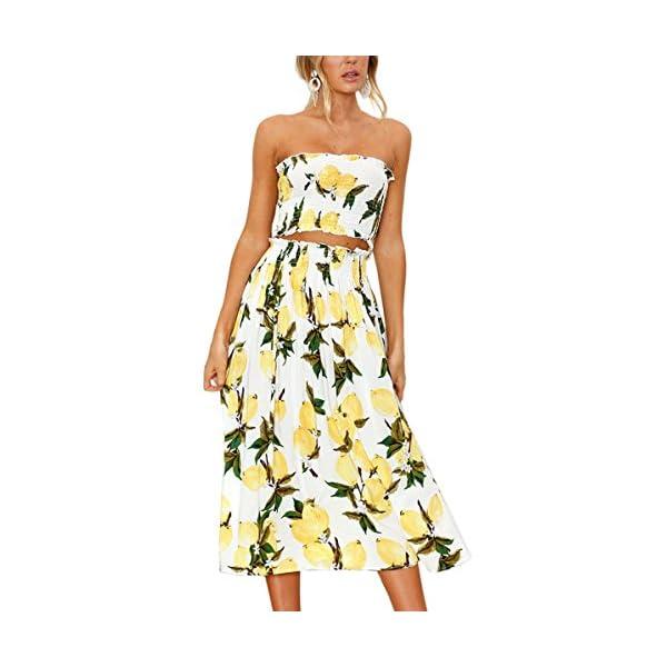 7970475820 SaleProductsOffer - No.1 Best Online Store 51BX3h8gl9L Angashion Women s Floral  Crop Top Maxi Skirt
