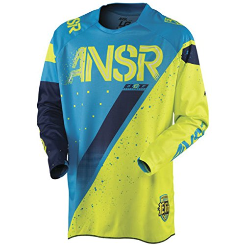 (Answer Racing A17.5 Elite Limited Edition Halo Men's Off-Road Motorcycle Jerseys - Blue/Yellow/Large)