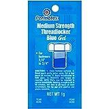 Permatex 09978-480PK Counterman's Choice Medium Strength Threadlocker Blue, 1 g Pouch (Pack of 480)