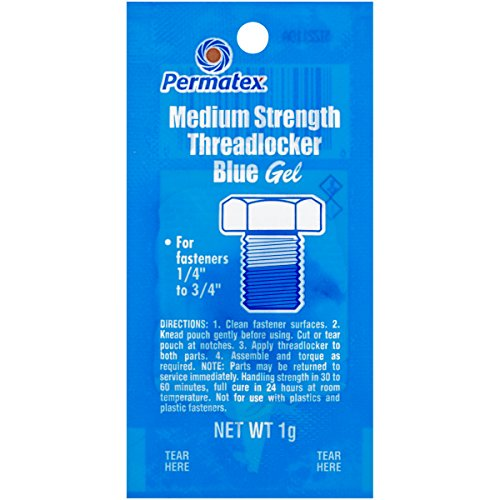 Permatex 09978-480PK Counterman's Choice Medium Strength Threadlocker Blue, 1 g Pouch (Pack of 480) by Permatex
