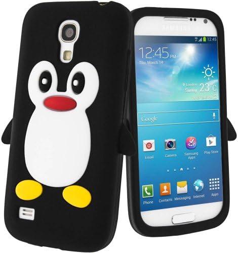 Semoss Pingouin Etui Housse Coque Silicone pour Samsung Galaxy S4 Mini GT-i9195 i9190 - Noir