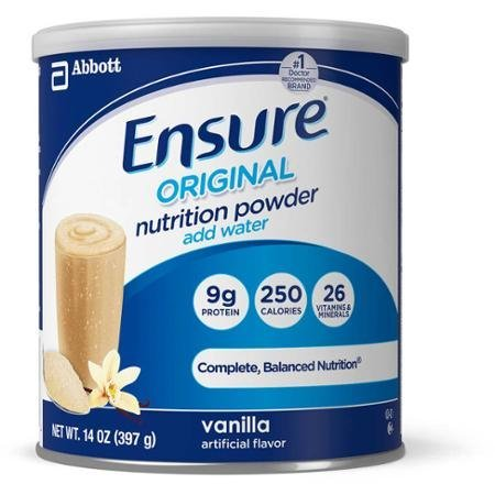 Ensure Technologies Powder Canister, Vanilla, 14oz