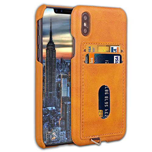 Scheam iPhone X Case, iPhone X Wallet Folio Flip Cover Phone Case...