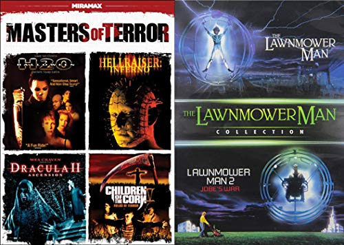 Stephen King Master of Cult Horror and Sci-Fi 6-Movie Bundle - Halloween H20, Hellraiser: Inferno, Dracula II: Ascension, Children of the Corn IV: Fields of Terror, The Lawnmower Man & Lawnmower Man 2